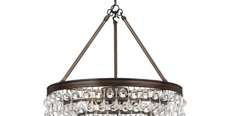 Calypso 6 lights Chandelier Bronze