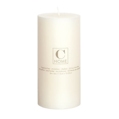 3'' x 6'' Ivory Candle