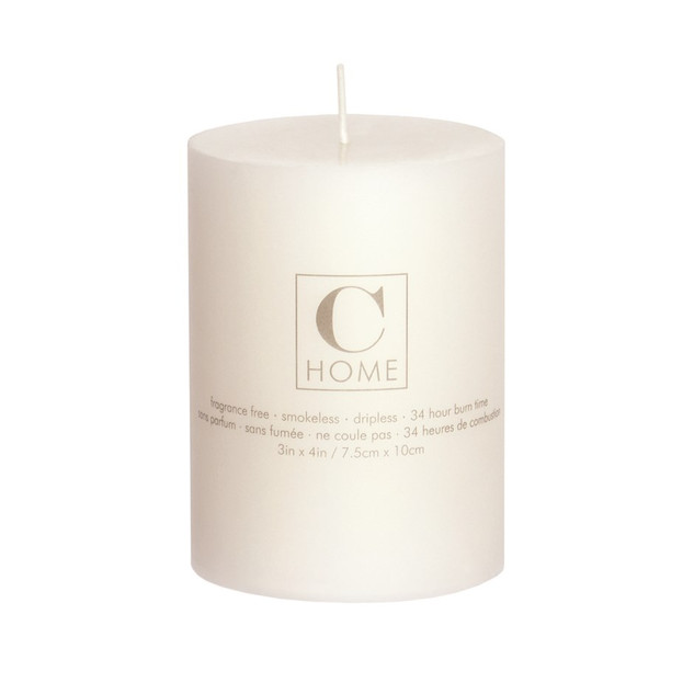 3'' x 4'' Ivory Candle