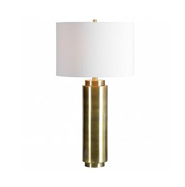 Gold Colum Table  Lamp