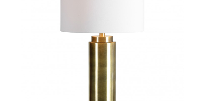 Gold Colum Table  Lamp