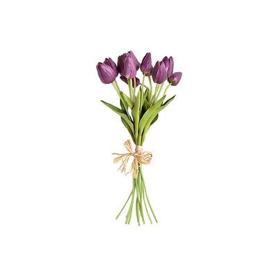"""Purple Tulip Bouquet 14"""""""
