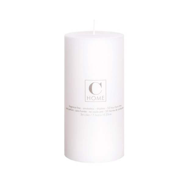 3'' x 6'' White Candle