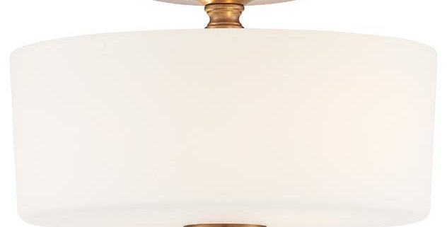 Travis Flushmount Vibrant Gold