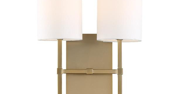 Veronica 2 Lights Wall Mount Brass