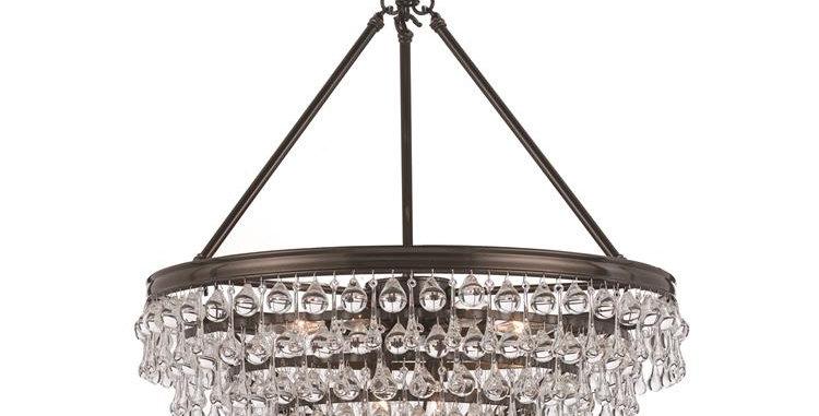 Calypso 8 lights Chandelier Bronze