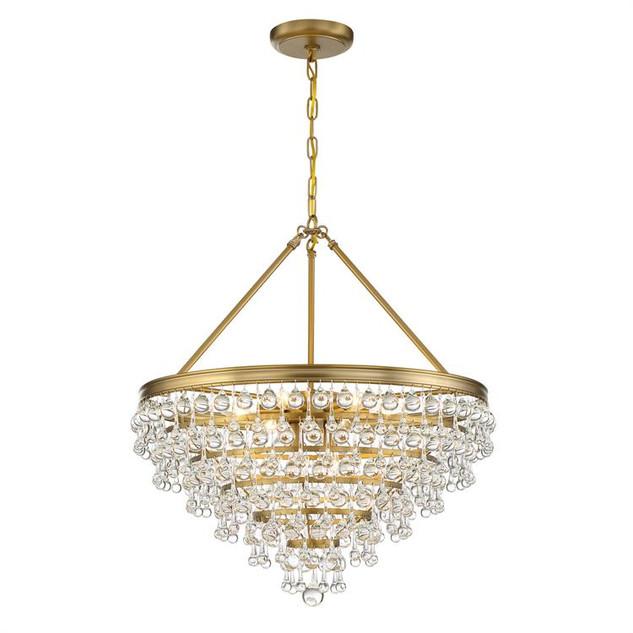 Calypso 8 lights Chandelier Gold