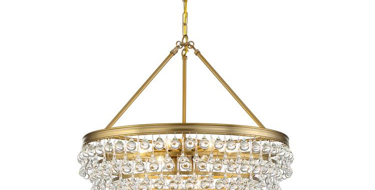 Calypso 8 lights Chandelier Gold