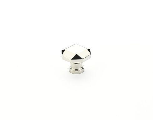 Menlo Faceted Knob Polished Nickel