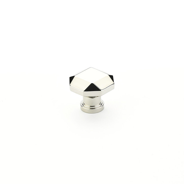Menlo Faceted Knob Polished Nickel