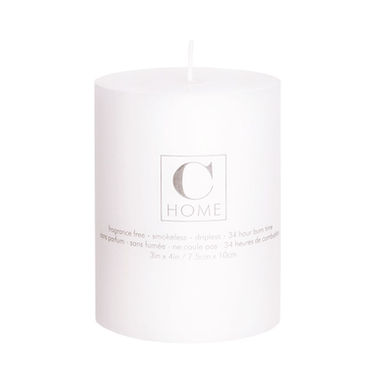3''x 4'' White Candle