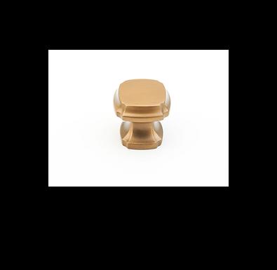 Empire Square Knob Brushed Bronze