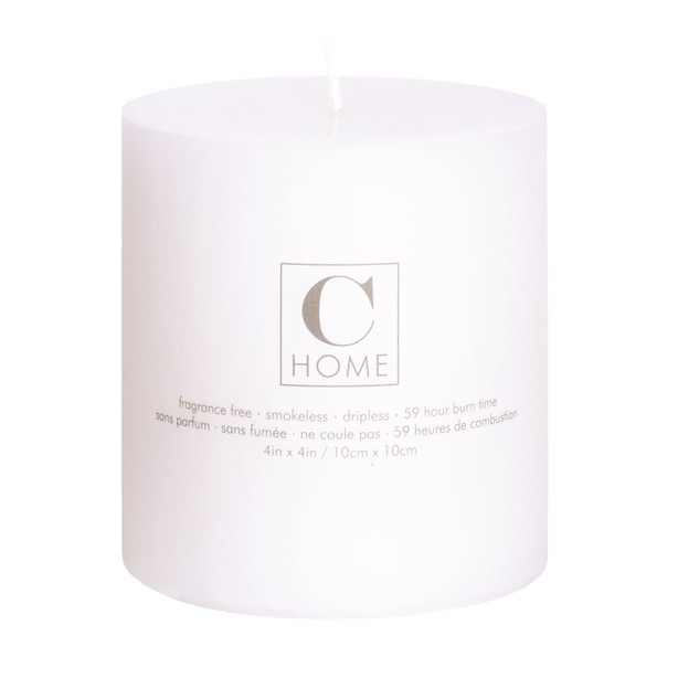 4'' x 4'' White Candle