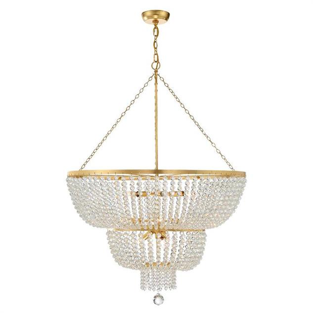 Rylee 12 Lights Chandelier Gold