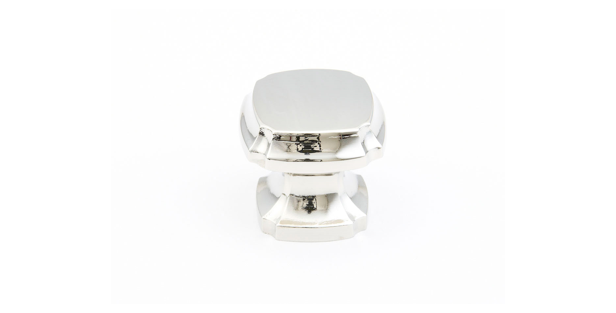 Empire Square Knob Polished Nickel