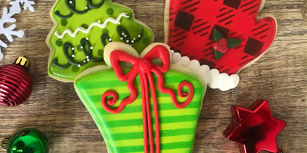 *Sold Out* December 14 Cookie Decorating Class - Santa, Tree, Present