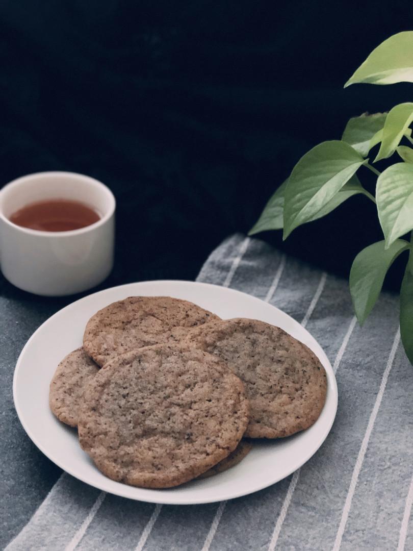 Brown sugar earl grey cookies