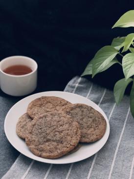 Brown sugar earl grey cookies