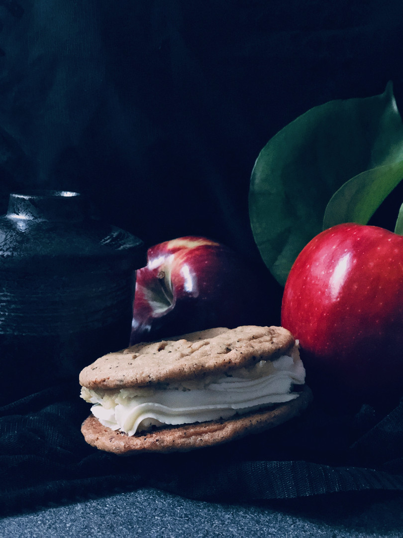 Apple cheesecake cookie sandwich