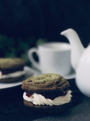 Matcha Chocolate Cran Cheesecake Cookie