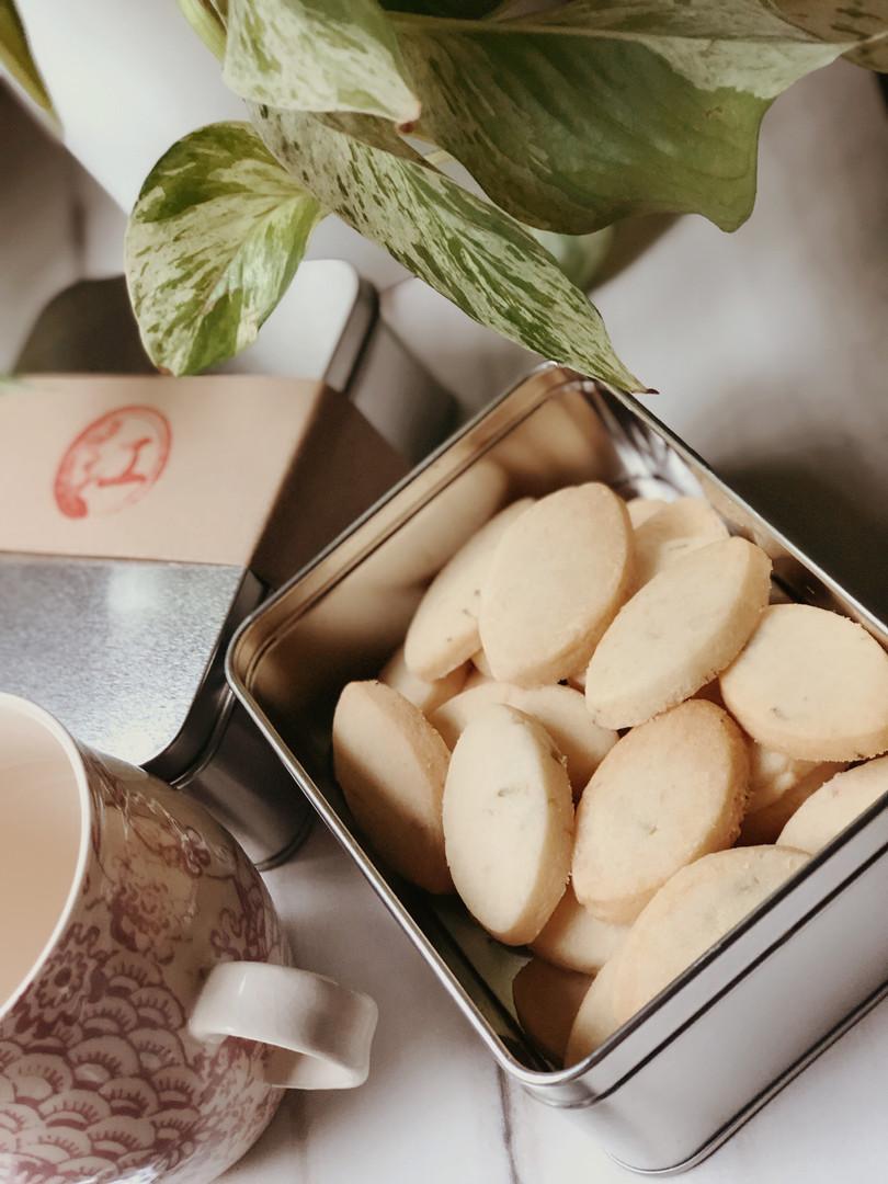 Jasmine Shortbread cookies