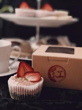 Matcha strawberry cheesecake