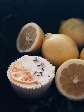 Lemon lavender cheesecake