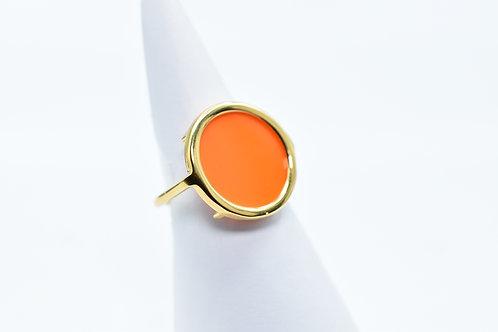 Opaque Orange Volta Agate Ring
