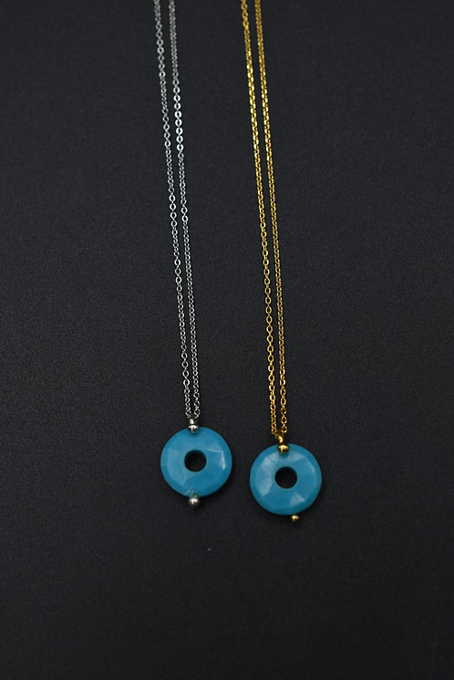 Collier Donuts Turquoise