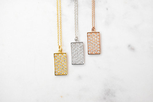 Collier Rectangle oxyde