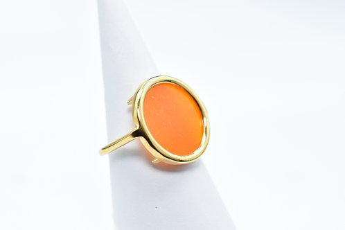 Volta Agate Orange Ring