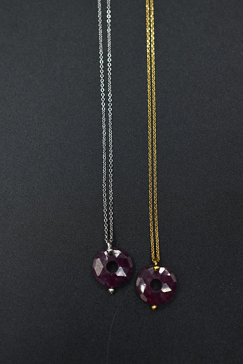 Collier Donuts Ruby