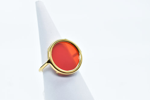 Bague Volta Agate Bordeau