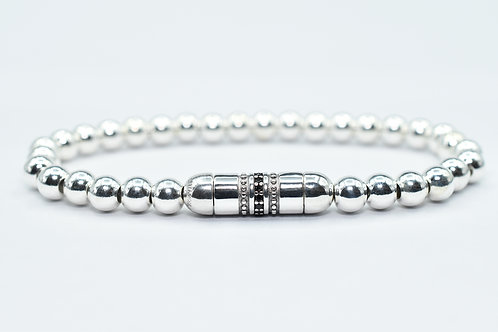 Le Fermoir 02 silver pearl bracelet
