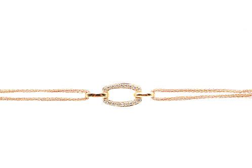 Bracelet Ilusão ovale double