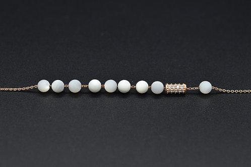 Mother of Pearl Cylinder Bracelet