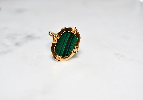 Antigo Malachite ring