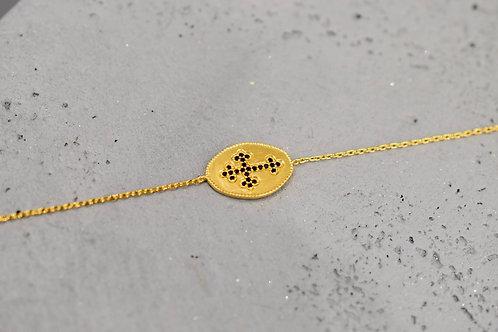 Bracelet Croix oxydes  noir