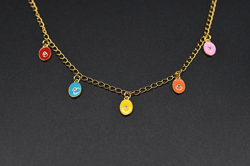 Oxides Multi medals necklace
