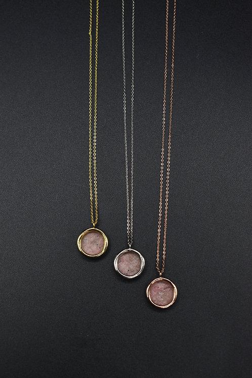 Collier Mini Volta Rhodonite