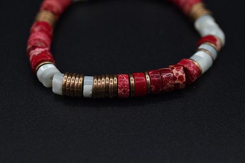 Bracelet Eve Jaspe rouge