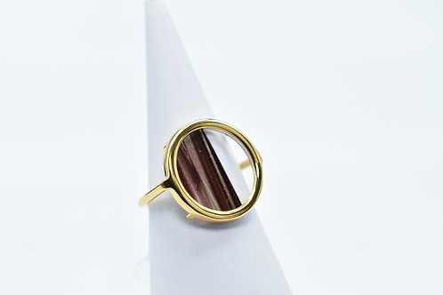 Volta Black Gold Line Ring