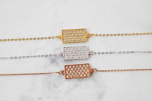 Oxide Rectangle Bracelet