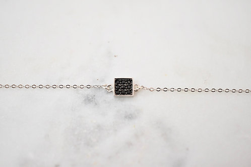 Square or round black oxide bracelet