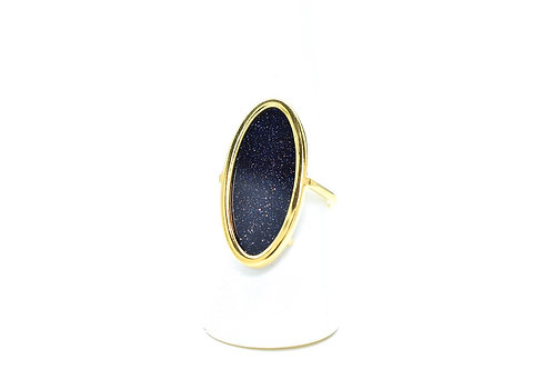 Bague Alongada Blue Sand Stone