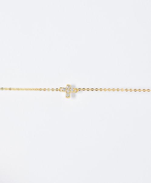 Oxide Cross Bracelet