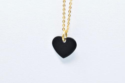 Collier Coração Preto