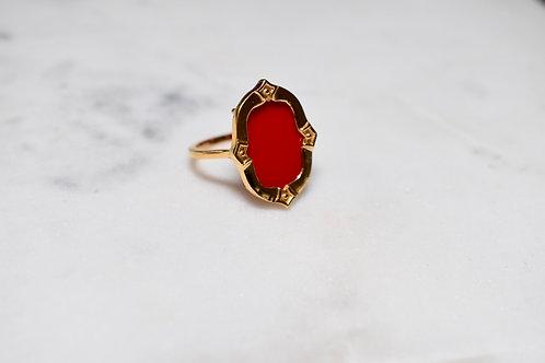 Antigo Coral red ring