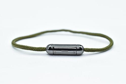Bracelet Capsule n°1 Noir cordon