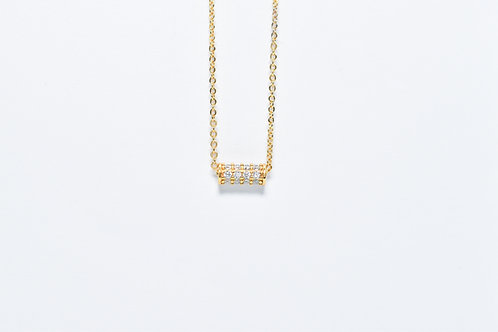 Oxide Cylinder Necklace